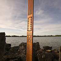 Huahine, French Polynesia, Marae Rauhunu