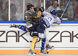 16.09.2012, Amphitheater, Pula, CRO, EBEL, Ice Fever, KHL Medvescak Zagreb vs UPC Vienna Capitals, 04. Runde, im Bild Adrian Veideman, Brandon Buck // during the Erste Bank Icehockey League 04th Round match betweeen KHL Medvescak Zagreb and UPC Vienna Capitals at the Amphitheater, Pula, Croatia on 2012/09/16. EXPA Pictures © 2012, PhotoCredit: EXPA/ Pixsell/ ATTENTION - OUT OF CRO, SRB, MAZ, BIH and POL *****