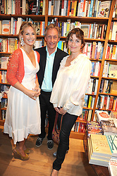 Left to right, EMMA WOOLARD, TONY BROMOVSKY and ROMILLY WEEKS  at a party to celebrate the publication of Charlotte Eagar's book'The Girl in the Film'held at the Daunt Bookshop, Holland Park Avenue, London on 10th July 2008.NON EXCLUSIVE - WORLD RIGHTS