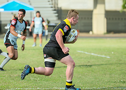 May 26, 2018 - Houston, TX, U.S. - HOUSTON, TX - MAY 26:  Houston SaberCats scrumhalf Conor Murphy (9) sprints to the end zone during the Major League Rugby match between the Utah Warriors and Houston SaberCats on May 26, 2018 at Dyer Stadium in Houston, Texas.  (Photo by Leslie Plaza Johnson/Icon Sportswire) (Credit Image: © Leslie Plaza Johnson/Icon SMI via ZUMA Press)