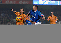 Photo: Ashley Pickering.<br /> Ipswich Town v Wolverhampton Wanderers. Coca Cola Championship. 20/02/2007.<br /> Gary Roberts of Ipswich (R) and Michael McIndoe of Wolves