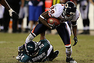 PHILADELPHIA - OCTOBER 21: Philadelphia Eagle's Sean Brown #24 makes a tackle during the game against the Chicago Bears on October 21, 2007 at Lincoln Financial Field in Philadelphia, Pennsylvania. The Bears won 19-16.