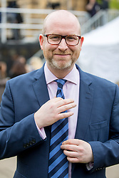 © Licensed to London News Pictures. 29/03/2017. London, UK. Leader of UKIP Paul Nuttall speaks to media on College Green. British Prime Minister Theresa May is due to deliver article 50 today. Photo credit : Tom Nicholson/LNP