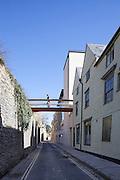 Bannister Building & Brewer Street Bridge. Pembroke College New Build on completion March 2013. Oxford, UK
