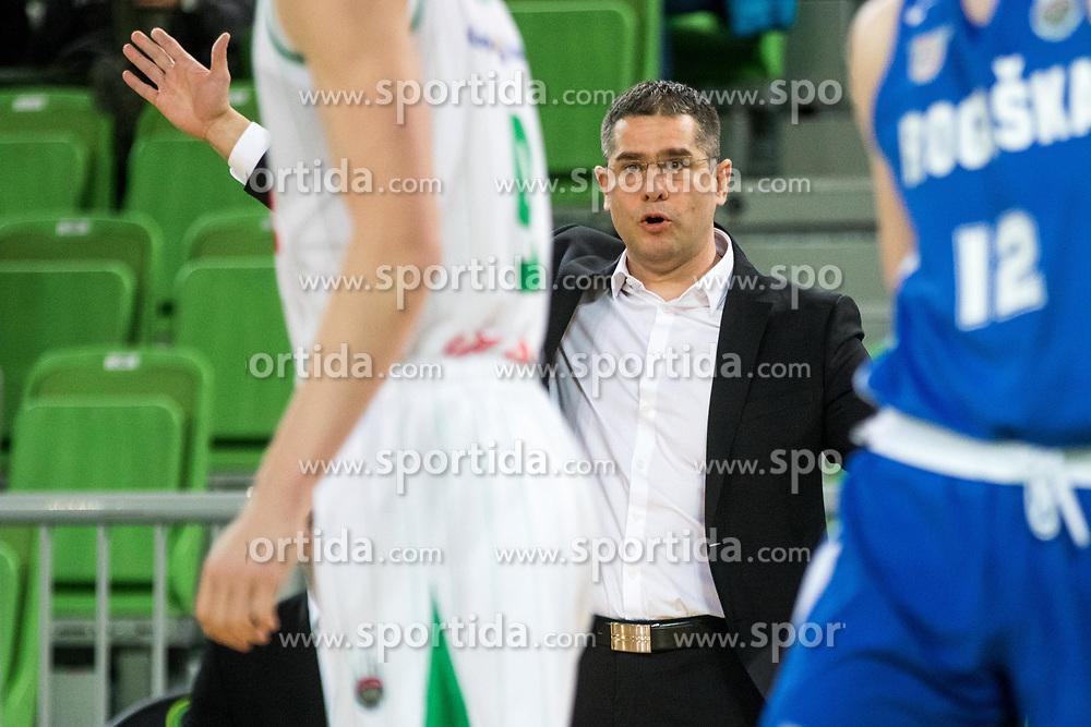 Aleksandar Saso Nikitovic, coach of Petrol Olimpija during 2nd leg basketball match between KK Petrol Olimpija and KK Rogaska in quarter final of  Pokal SPAR 2018/19, on January 14, 2019 in Arena Stozice, Ljubljana, Slovenia. Photo by Matic Ritonja / Sportida