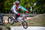 #117 (AEBERHARD Nadine) SUI during practice at Round 3 of the 2019 UCI BMX Supercross World Cup in Papendal, The Netherlands