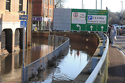 © Licensed to London News Pictures. 26/12/2013<br /> Maidstone Town Centre,Maidstone,Kent is flooded due to the <br />  river Medway Bursting its banks.<br /> Boxing day flooding in Kent.<br /> Large parts of Kent are still flooded due to heavy rain with more bad weather expected.<br /> Photo credit :Grant Falvey/LNP