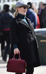 The first day of The Cheltenham Festival 2018 at Cheltenham Racecourse, Cheltenham, Gloucestershire, UK, on the 13th March 2018. 13 Mar 2018 Pictured: Zara Tindall, Zara Phillips. Photo credit: James Whatling / MEGA TheMegaAgency.com +1 888 505 6342
