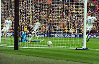 Football - 2018 / 2019 Emirates FA Cup - Semi-Final: Wolverhampton Wanderers vs. Watford<br /> <br /> Gerard Deulofeu scores his extra time goal past goalkeeper, John Ruddy, at Wembley Stadium.<br /> <br /> COLORSPORT/ANDREW COWIE