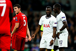 Tanguy NDombele of Tottenham Hotspur looks on - Rogan/JMP - 01/10/2019 - FOOTBALL - Tottenham Hotspur Stadium - London, England - Tottenham Hotspur v Bayern Munich - UEFA Champions League Group B.