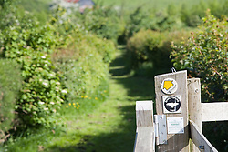 Public footpath in the countryside,