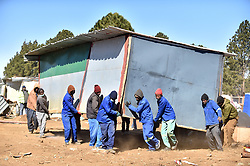 South Africa - Pretoria - 15 July 2020 - Displaced Eeste Fabriek residents have finally been relocated to Lethabong informal settlement near Bronkhorstspruit.<br /> <br /> Picture: Thobile Mathonsi/African News Agency(ANA)