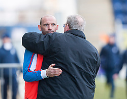 Cowdenbeath's manager Colin Cameron and Alex Smith, Falkirk interim manager at the end..Falkirk 4 v 0 Cowdenbeath, 6/4/2013..©Michael Schofield..