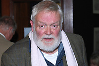 Michael Longley, poet, Belfast, N Ireland, UK, 200910163147. Taken at launch of Sam Hanna Bell exhibition in the LInen Hall Library, Belfast.<br />