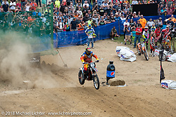 Off the line at the Gunstock Hillclimbs during Laconia Motorcycle Week. NH, USA. Wednesday, June 13, 2018. Photography ©2018 Michael Lichter.