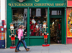 Edinburgh, Scotland, UK. 24 October 2020. Exterior of Christmas shop on Royal Mile in Edinburgh. Scottish Government warns that Christmas celebrations and family gatherings might be severely curtailed  due to Covid-19 lockdowns. Iain Masterton/Alamy Live News