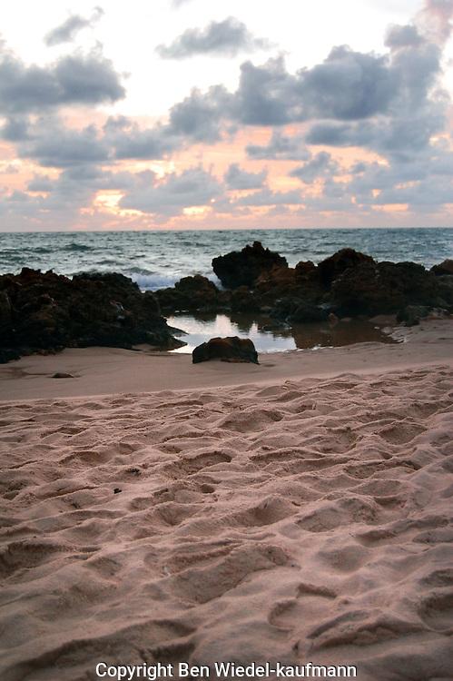 Beach at sunrise in Brazil, Paraiba northeastern Brazil