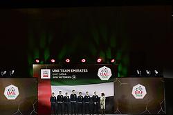 February 23, 2019 - Abu Dhabi - Foto LaPresse - Fabio Ferrari.23 Febbraio 2019 Abu Dhabi (Emirati Arabi Uniti).Sport Ciclismo.UAE Tour 2019 - Presentazione squadre.Nella foto: UAE team emirates..Photo LaPresse - Fabio Ferrari.February 23, 2019 Abu Dhabi (United Arab Emirates) .Sport Cycling.UAE Tour 2019 - Team presentation.In the pic: UAE team emirates (Credit Image: © Fabio Ferrari/Lapresse via ZUMA Press)