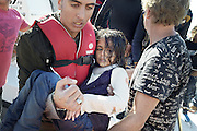 Oct. 15, 2015 - Lesbos Island, Greece - <br /> <br /> European Migrant Crisis<br /> <br /> Fatal Accident at sea caused at least nine deaths among migrants that in  thousands lands every day on the shores of the island of Lesbos from neighboring Turkey , distant only 4 nautical miles. Survived to the tragedy are arriving in the port of Molyvos. <br /> ©Exclusivepix Media