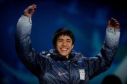 14-02-2010 ALGEMEEN: OLYMPISCHE SPELEN: CEREMONIE: VANCOUVER<br /> Ceremonie 1500 meter shorttrack / CELSKI J.R.<br /> ©2010-WWW.FOTOHOOGENDOORN.NL