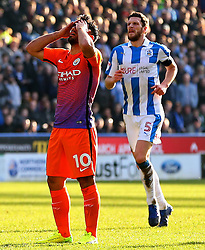 Sergio Aguero of Manchester City reacts after missing a chance - Mandatory by-line: Matt McNulty/JMP - 18/02/2017 - FOOTBALL - The John Smith's Stadium - Huddersfield, England - Huddersfield Town v Manchester City - Emirates FA Cup fifth round