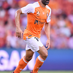 BRISBANE, AUSTRALIA - DECEMBER 21: Fahid Ben Khalfallah of the Roar in action during the Round 12 Hyundai A-League match between Brisbane Roar and Perth Glory on December 21, 2017 in Brisbane, Australia. (Photo by Patrick Kearney / Brisbane Roar FC)