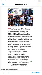 """Kirstie Alley releases a photo on Twitter with the following caption: """"""""Can you believe this? Drug em SHOCK EM .. DESTROY EM.. 21st Century SLAVERY💉💊⚰️"""""""". Photo Credit: Twitter *** No USA Distribution *** For Editorial Use Only *** Not to be Published in Books or Photo Books ***  Please note: Fees charged by the agency are for the agency's services only, and do not, nor are they intended to, convey to the user any ownership of Copyright or License in the material. The agency does not claim any ownership including but not limited to Copyright or License in the attached material. By publishing this material you expressly agree to indemnify and to hold the agency and its directors, shareholders and employees harmless from any loss, claims, damages, demands, expenses (including legal fees), or any causes of action or allegation against the agency arising out of or connected in any way with publication of the material."""