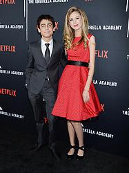 Netflix's 'The Umbrella Academy' Premiere. 12 Feb 2019 Pictured: Aidan Gallagher. Photo credit: MEGA TheMegaAgency.com +1 888 505 6342