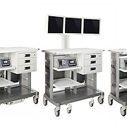 Three EndoChoice Medical carts for their new EndoScope system. Photography by Joshua Geiger. Three cart composite done by Ryan Moskowitz.