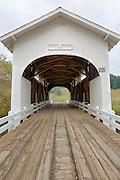 USA, Oregon, King's Valley, Harris Bridge. Digital Composite, HDR