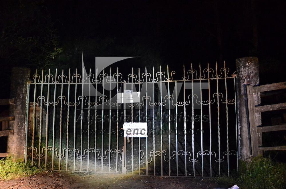 Valle de Bravo, México (Octubre 27, 2016).- Aspectos del rancho  Las Mesas que tiene Javier Duarte, gobernador de Veracruz con licencia, que se ubica en Valle de Bravo, y el cual tiene sellos como un inmueble asegurado por la Subprocuraduría Especializada en Investigación de Delitos Federales.  Agencia MVT / Arturo Hernández