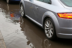November 1, 2018 - London, London, United Kingdom - Flooding in North London. ..A car drives through the floods in Haringey, north London caused by heavy rainfall in the capital. (Credit Image: © Dinendra Haria/i-Images via ZUMA Press)