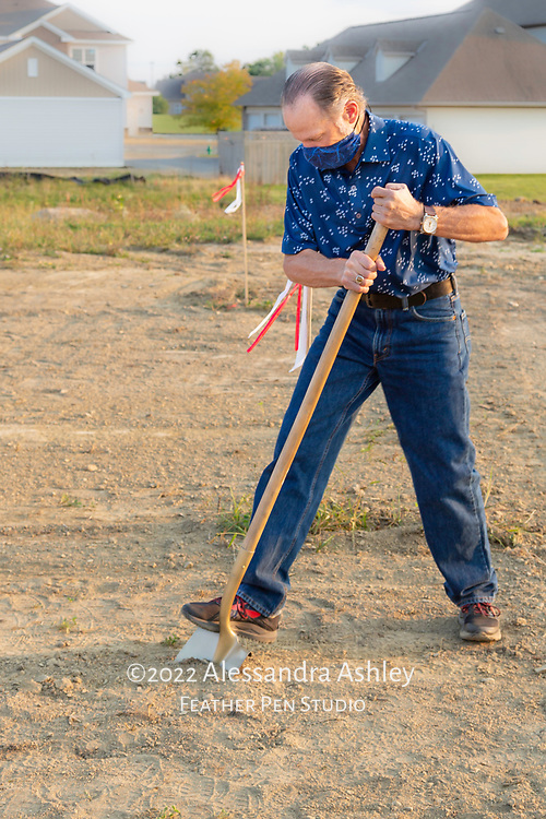 Owner of Athletic Advantage, Inc., is first to break ground at site of new physical therapy and wellness center building project in Lewis Center, Ohio.