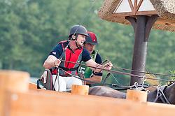 Chester Weber, (USA), Boris W, Boy W, Para, Splash, Uniek - Driving Marathon - Alltech FEI World Equestrian Games™ 2014 - Normandy, France.<br /> © Hippo Foto Team - Jon Stroud<br /> 06/09/2014