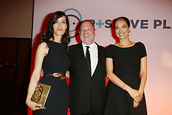 Exclusive - Carmen Chaplin, Harvey Weinstein and Dolores Chaplin attending the Semaine du Cinema Positive by Positive Planet diner during the 69th annual Cannes Film Festival on May 18, 2016 in Cannes, France. Photo by Jerome Domine/ABACAPRESS.COM  | 547521_091