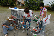 Decochari owners working on one of the bikes.