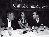 1941 Jack Benny, Barbara Stanwick & Robert Taylor at Ciro's Nightclub