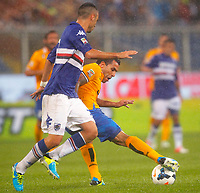 "Carlos Tevez Juventus,<br /> Genova 24/8/2013<br /> Stadio ""Luigi Ferraris"" <br /> Football Calcio 2013/2014 Serie A <br /> Sampdoria - Juventus <br /> Foto Marco Bertorello Insidefoto"
