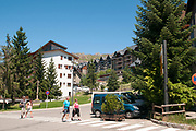 The ski resort village of Formigal (Aramón Formigal), in the Aragon Pyrenees of northeastern Spain,
