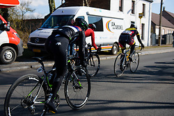 Onto the final lap for Jelena Eric at Le Samyn des Dames 2018 - a 103 km road race on February 27, 2018, from Quaregnon to Dour, Belgium. (Photo by Sean Robinson/Velofocus.com)