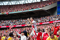 Arsenal fans celebrate the opening goal       <br /> <br /> <br /> Photographer Craig Mercer/CameraSport<br /> <br /> The Emirates FA Cup Final - Arsenal v Chelsea - Saturday 27th May 2017 - Wembley Stadium - London<br />  <br /> World Copyright © 2017 CameraSport. All rights reserved. 43 Linden Ave. Countesthorpe. Leicester. England. LE8 5PG - Tel: +44 (0) 116 277 4147 - admin@camerasport.com - www.camerasport.com