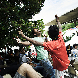 PARIS, FRANCE. AUGUST 23, 2011. Supporters at the Homeless World Cup. Photo: Antoine Doyen