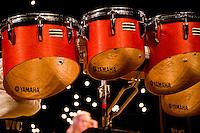 Yamaha tenor drums played by Eric Carr during Rowan University's 2010 Percussion Ensemble and Marimba Band presentation.