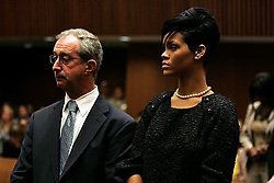 Jun 22, 2009 - Los Angeles, California, USA - Attorney DONALD ETRA and singer RIHANNA in court where Singer Chris Brown pled guilty to assaulting his former girlfriend, pop star Rihanna, during a hearing at the Criminal Courts Building on June 22, 2009 in Los Angeles, California. (Credit Image: © Lori Shepler-POOL/ZUMA Press)