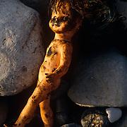 Damaged toy doll