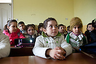 Syrian children are given a therapy class by a psychologist at the Albashayer School for Syrian refugee children, Antakya, Turkey. 14/12/2012. Bradley Secker for The Washintgon Post
