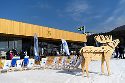 February 9, 2018 - Pyeongchang, SOUTH KOREA - 180209 Exterior of the Swedish Arena during a press conference with the Swedish cross country skiing skiathlon team ahead of the 2018 Winter Olympics on February 9, 2018 in Pyeongchang..Photo: Carl Sandin / BILDBYRÃ…N / kod CS / 57999_278 (Credit Image: © Carl Sandin/Bildbyran via ZUMA Press)