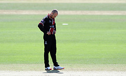 Dejection for Somerset's Jack Leach - Photo mandatory by-line: Harry Trump/JMP - Mobile: 07966 386802 - 29/07/15 - SPORT - CRICKET - Somerset v Durham - Royal London One Day Cup - The County Ground, Taunton, England.