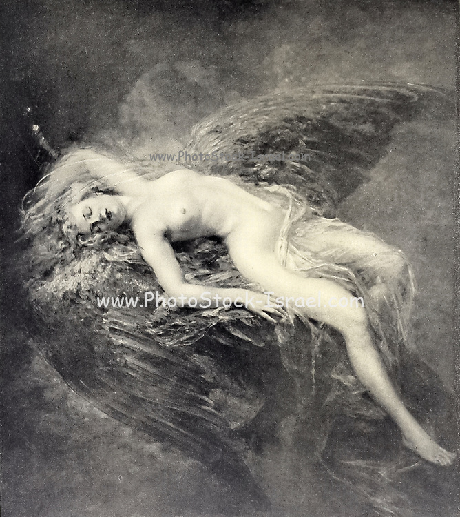 Sur les Ailes du Reve [On the Wings of the Dream] By Consuelo Fould from Le Nu au Salon 1908 A collection of Nude photography published in Paris in 1908 by Société nationale des beaux-arts (France). et Société des artistes français. Catalogs of nudes exhibited at the official Paris Salons. Some years have two parts: The Salon held at the Champs Élysées sponsored by the Société des artistes français and the Salon held at the Champ de Mars sponsored by the Société nationale des beaux-arts