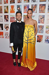 OSMAN YOUSEFZADA and ZAWE ASHTON at British Vogue's Centenary Gala Dinner in Kensington Gardens, London on 23rd May 2016.
